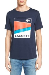 Lacoste Men's Sport Geometric T Shirt