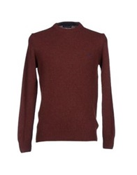 Brooksfield Sweaters Brick Red