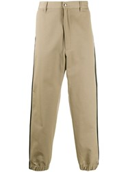 Diesel Contrast Stripe Trousers Neutrals
