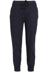 James Perse Cotton Blend Track Pants Navy