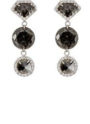 Sharon Khazzam Women's Pablo Triple Drop Earrings Colorless