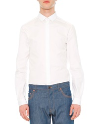 Valentino Solid Long Sleeve Shirt White