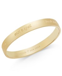 Kate Spade New York Engraved Magic Idiom Bracelet Gold