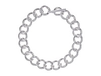 Lauren Ralph Lauren Silver Moon 18 Large Curb Link W Ring Toggle Necklace Silver Necklace