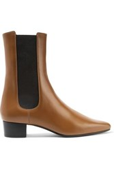 The Row British Leather Chelsea Boots Tan