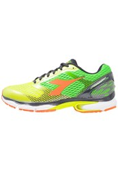 Diadora N61004 Neutral Running Shoes Yellow Fluo Green Fluo