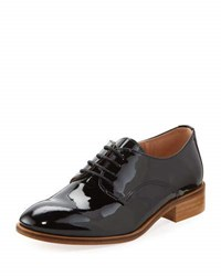Andre Assous Patent Leather Lace Up Oxford Black