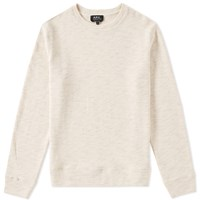 A.P.C. Bros Crew Sweat Neutrals