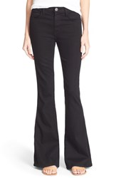 Women's Current Elliott 'The Low Bell' High Rise Flare Jeans Jet Black