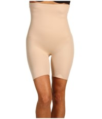Miraclesuit Shapewear Extra Firm Real Smooth Hi Waist Thigh Slimmer Nude Underwear Beige