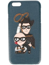 Dolce And Gabbana Cowboy Designers Patch Iphone 6 Plus Case Blue