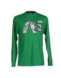 Analog Topwear T Shirts Men Green