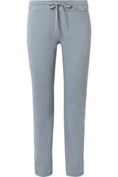 James Perse Genie Supima Cotton Terry Track Pants Light Blue Gbp