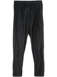 Casey Casey Drop Crotch Cropped Trousers Grey