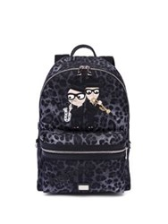 Dolce And Gabbana Leopard Printed Backpack Multi