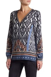 Hale Bob Printed Long Sleeve Tunic Black