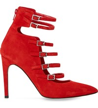 Dune Anooska Suede Heeled Courts Red Suede