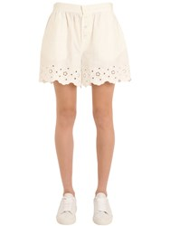 Tommy Hilfiger Collection Cotton Eyelet Shorts