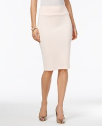 Thalia Sodi Scuba Pencil Skirt Only At Macy's Pearl Blush