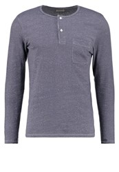 Selected Homme Shhplate Long Sleeved Top Ombre Blue Blue Grey