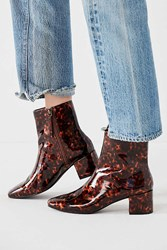 Urban Outfitters Tortoise Square Toe Ankle Boot Brown
