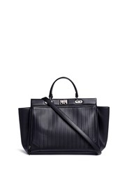 Rodo Basketweave Effect Leather Tote Black