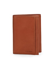 Cole Haan Leather Tri Fold Wallet British Tan