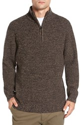 Rodd And Gunn Men's 'Woodglen' Herringbone Knit Lambswool Quarter Zip Sweater