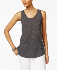 Style And Co Striped Tank Top Only At Macy's Deep Black White