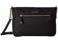 Calvin Klein Florence Quilted Nylon Crossbody Black Quilt Cross Body Handbags