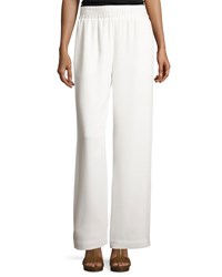 Cinq A Sept Beatrix Side Snap Wide Leg Pants Ivory