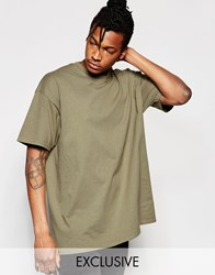 Reclaimed Vintage Oversized T Shirt Khaki Grey