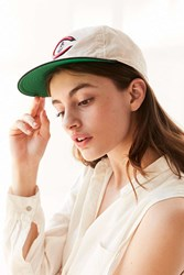 American Needle Line Out Linen Flat Brim Baseball Hat Cream Multi