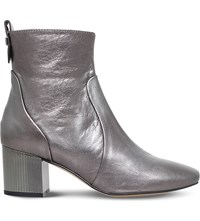 Carvela Strudel Leather Ankle Boots Gunmetal
