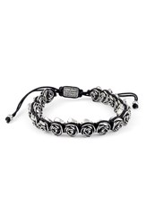 King Baby Studio Men's Rose Bead Bracelet