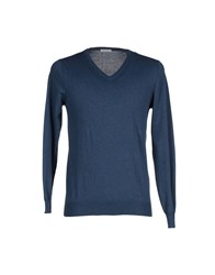 Zanieri Knitwear Jumpers Men Blue