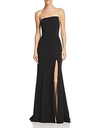 Aqua Strapless Scuba Crepe Gown 100 Exclusive Black Nude