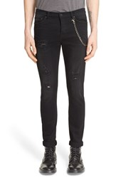 Men's The Kooples Distressed Jeans With Chain