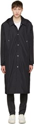 Ami Alexandre Mattiussi Black Long Nylon Raincoat