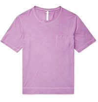 Massimo Alba Panarea Watercolour Dyed Cotton Jersey T Shirt Pink