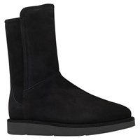 Ugg Abree Short Flat Heeled Calf Boots Black Suede