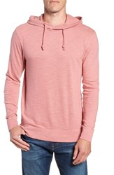 Faherty Slub Cotton Hoodie Summer Red