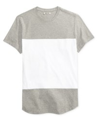 Kenneth Cole Reaction Men's Colorblocked Cotton T Shirt Heather Grey