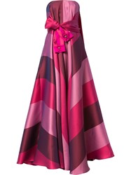 Alexis Mabille Sleeve Belt Strapless Dress Pink And Purple