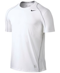 Nike Pro Cool Fitted Dri Fit Shirt White Black