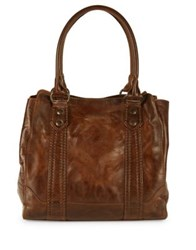Frye Melissa Leather Tote Cognac