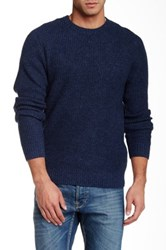 1901 Waffle Knit Pullover Blue