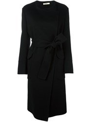 Bally Double Breasted Belted Coat Black