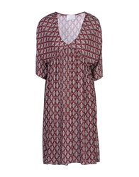 George J. Love Dresses Knee Length Dresses Women Maroon