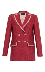 Rossella Jardini Loose Double Breasted Jacket Red